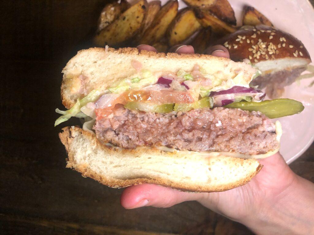 Juicy homemade burger